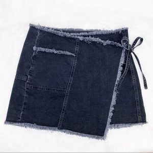 Urban Outfitters BDG Black Denim Wrap Skirt